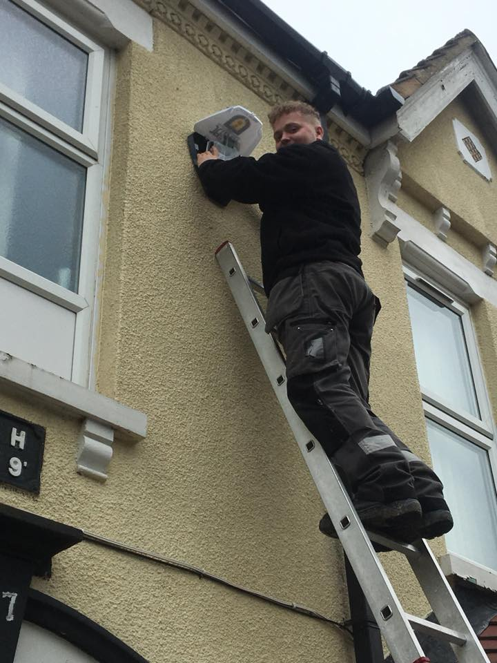 alarm installation picture